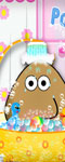 Pou Taking A Shower