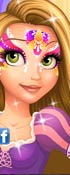 Rapunzel Face Painting