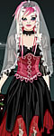Stylish Gothic Bride Dress Up