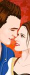 Vampire Couple Love Kiss