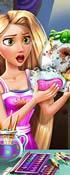 Rapunzel Dish Washing